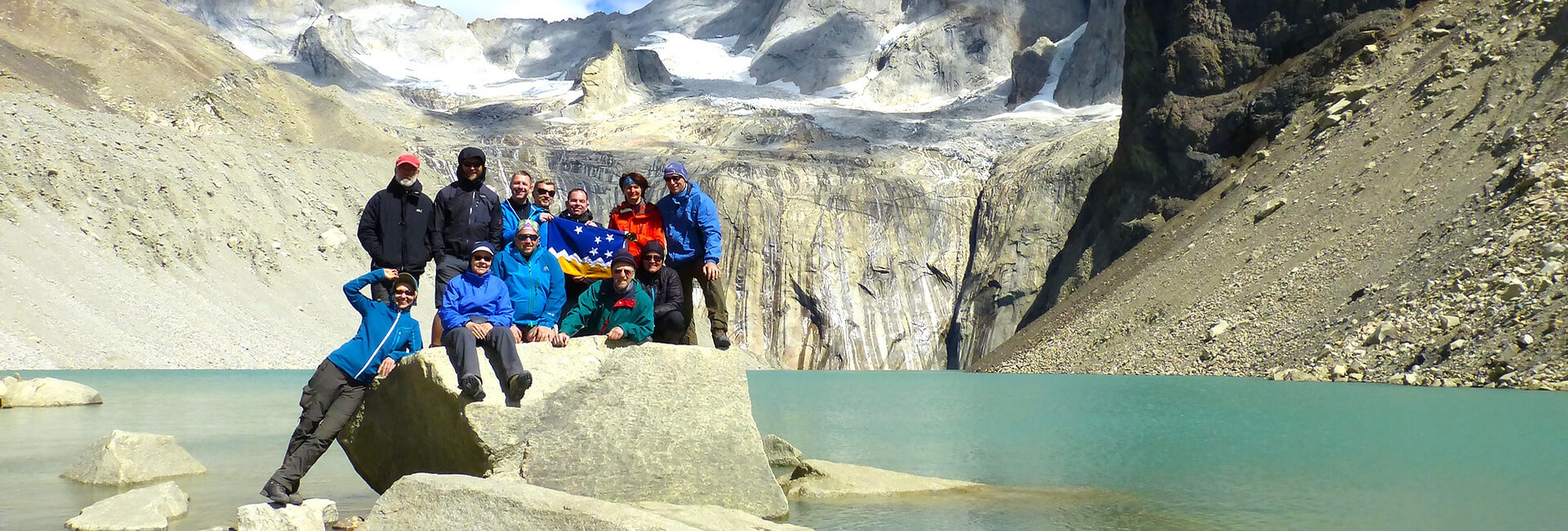 Hiking Group at Torres del Paine Towers