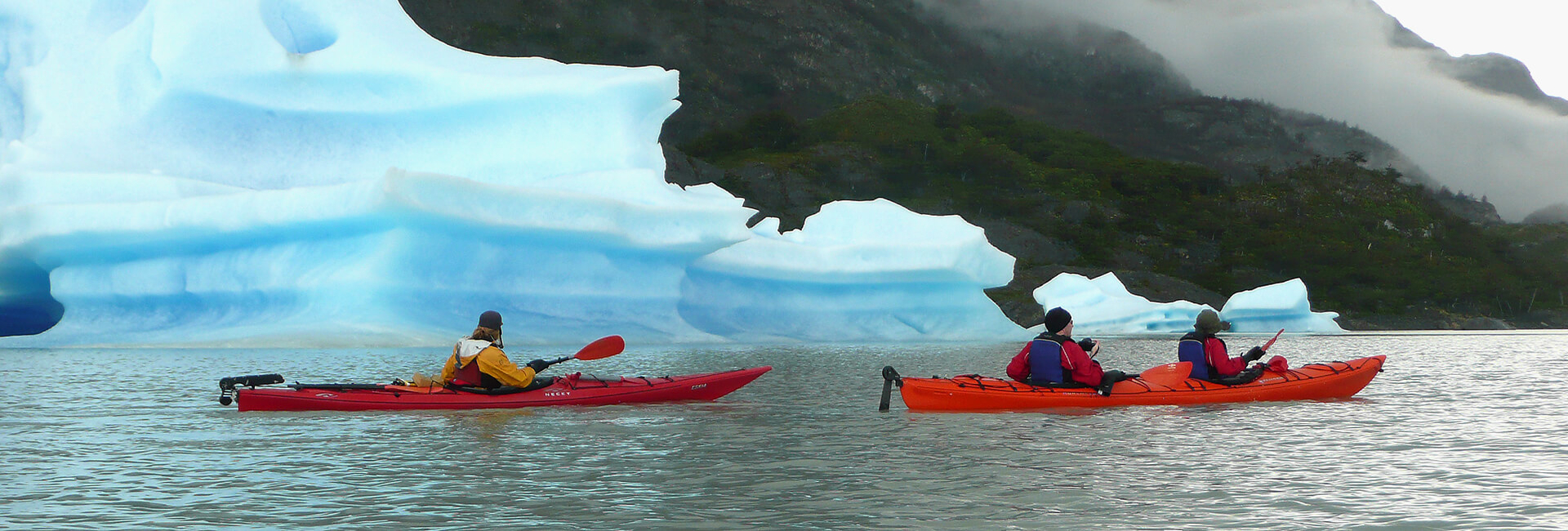 Kayak in Patagonia, Torres del Paine National Park