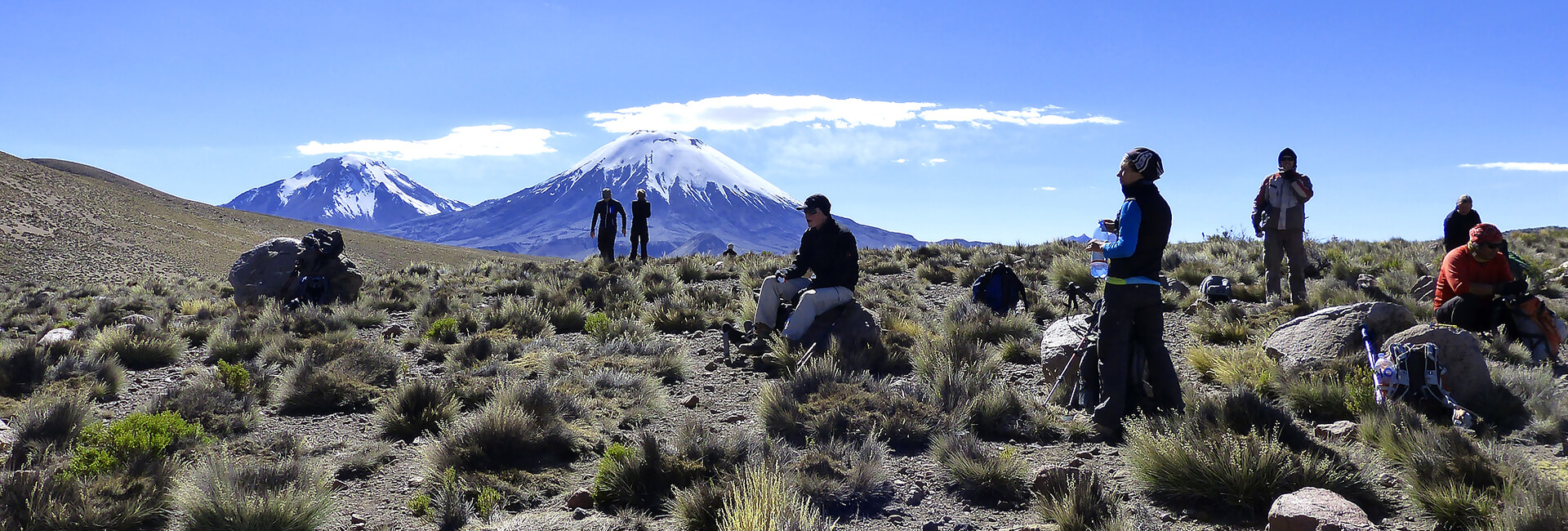 Trekking Group in the Chilean Andes, Altiplano